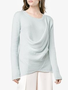 4e0fee4ce62a9b Sies Marjan mist cotton blend ribbed sweater Cotton