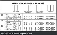 39 Awesome standard size door dimensions images