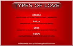 four different types of love