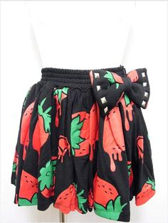 Strawberry Pattern Gathered Skirt available at http://www.cdjapan.co.jp/apparel/new_arrival.html?brand=SLV