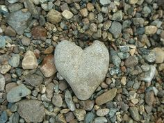i love searching for heart stones