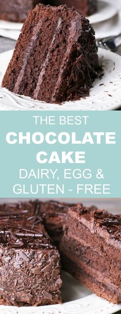 This gluten dairy and egg-free Chocolate Cake recipe is delicious decadent and so easy to make. Whether you make it for a birthday party special occasion or well-deserved treat everyone can enjoy a slice or two! Egg Free Cakes, Gluten Free Cakes, Gluten Free Baking, Mug Cakes, Egg Free Desserts, Easy Desserts, Dairy Free Eggs, Dairy Free Recipes, Gluten Free Dairy Free Cake Recipe