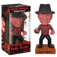 DEAL OF THE DAY Nightmare on Elm Street Freddy Krueger Bobble Head After over 20 years of terrorizing the teenagers of Elm Street, Freddy Krueger is still as iconic than ever! this Nightmare on Elm Street Freddy Krueger Bobble Head stands approximately 6 1/2-inches tall, excluding base, and includes a base.  TO BUY CLICK ON LINK BELOW http://tomatovisiontv.wix.com/tomatovision2#!action-figure/c1t9c