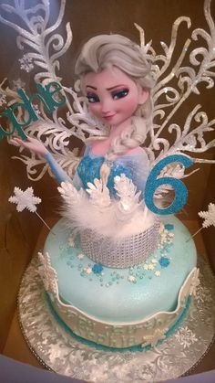 Frozen Cake Topper by ETRPartySupplies on Etsy