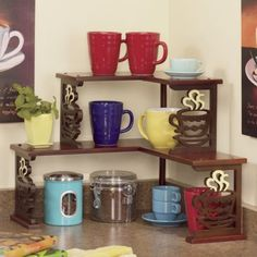 Coffee Corner Shelf - I wonder how easy this would be to make...