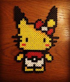 Pikachu Hello Kitty perler beads by  zachmaximum