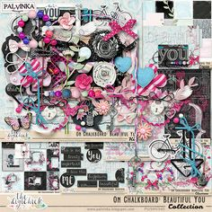 On Chalkboard: Beautiful You Collection by Palvinka Designs | Digital Scrapbook @ at The Digichick