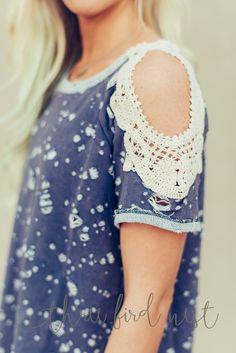 Lace + Stones Open Shoulder Top