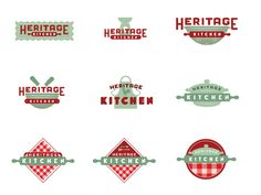 Heritage Kitchen Logo Treatments
