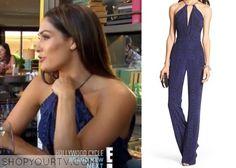 Nikki-Bella-chevron-jumpsuit Nikki Bella is wearing this silk jumpsuit in this week's episode of Total Divas.