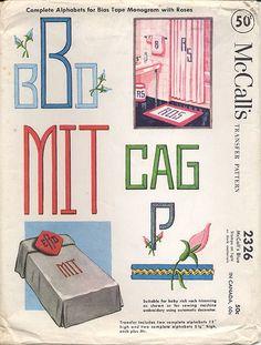 Bias Tape Alphabet | Flickr - Photo Sharing!