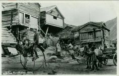 Oppland fylke Lom kommune  RØISHEIM nærmotiv med bl.a. velociped Foto Wilse 1892