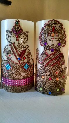 Ganesha & Lakshmi henna candles