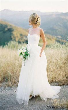 chiffon wedding dress #chiffon #wedding #dresses