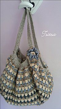 crochet, this is gorgeous! Crochet Tote, Crochet Handbags, Crochet Purses, Crochet Slippers, Love Crochet, Diy Crochet, Crochet Crafts, Crochet Hooks, Crochet Projects