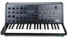 Korg MS-20.  A great little analog monosynth.  With two-oscillator monophonic & patch connections panel.