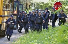 Tuesday, June 23, 2015, while searching for two prison escapees from Clinton Correctional Facility. Police began focusing intensely on an area 20 miles west of the prison that inmates David Sweat and Richard Matt escaped from prison on June 6. (Jason Hunter/The Watertown Daily Times via AP) SYRACUSE OUT