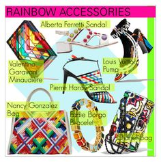 """""""Rainbow Accessories"""" by martso ❤ liked on Polyvore featuring rainbow and polyvoreeditorial"""