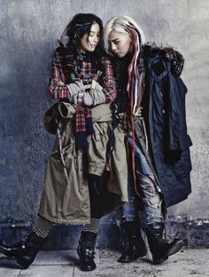 """Street to Street"": Kim Sung-Hee and G-Dragon by Kim Bo-Sung for Vogue Korea August 2013"