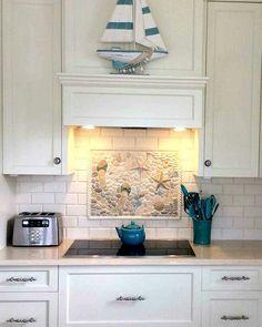 Nautical tiles for your beach house custom borders for Nautical kitchen backsplash