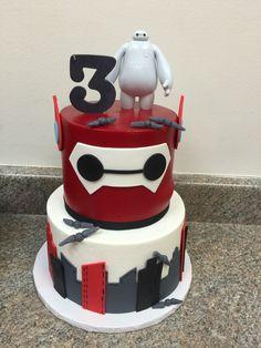 Big Hero 6 birthday cake #baymax #bighero6 #microbots #birthdayparty