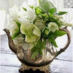 Old silver ware makes great vessels for hand picked flowers #thesummerhousestyle