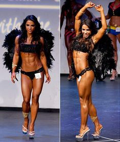 Her picture has been floating around on here for a week or so. She isWBFF Physique Athlete Andreia Brazier. This article has her weekly workout and her sample diet. Yes I know she is muscular and yes I know this isn't everyone's cup of tea. This pin isn't intended for those people. So if you don't like it, keep it to yourself.