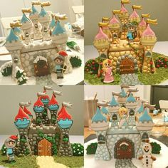Building Gingerbread Dream Castles in today's advanced decorating class at #TaartenDeco in Belgium