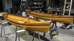 Wee Lassie Canoes: Western Red Cedar, Spanish Cedar, Ash, & Cane seats. These were both donated to St. Joseph School Bazaar