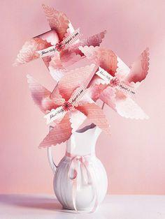 pinwheel wedding favors