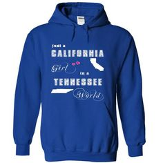 California Girl in a Tennessee World - #monogrammed sweatshirt #sweatshirt and leggings. THE BEST => https://www.sunfrog.com/States/California-Girl-in-a-Tennessee-World-czvzi-RoyalBlue-Hoodie.html?68278