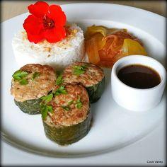 cookvalley - tanker om mad: Fyldte agurker med hakket kylling, risvin og ingefær