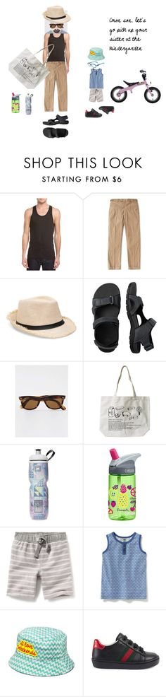"""Going to the kindergarden"" by maraky-ropaz ❤ liked on Polyvore featuring 2(x)ist, Beams+, Vionic, Topman, CamelBak, Gucci, men's fashion and menswear"
