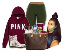 """"""""""" by aribearie ❤ liked on Polyvore featuring Essie and Louis Vuitton"""