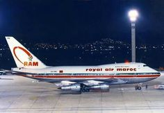 RAM Royal Air Maroc Boeing 747SP Commercial Plane, Commercial Aircraft, European Airlines, Jumbo Jet, Boeing Aircraft, Civil Aviation, Air Travel, Flight Attendant, Airports