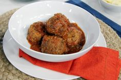 Ruby Watchco's meatballs Chef Recipes, Italian Recipes, Healthy Recipes, Healthy Dinners, Yummy Recipes, Joy Of Cooking, Lynn Crawford, Meatball Recipes, Yummy Eats