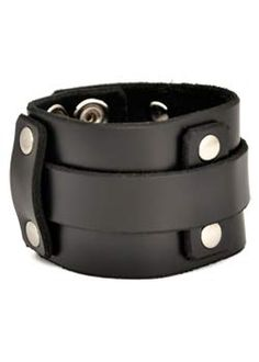 Over Under Wristband - punk, gothic, leather wristbands