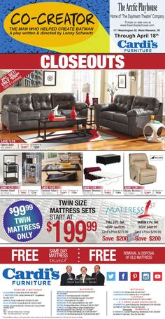 Cardis Furniture Daily Ad 4 8 2015 Please See Showroom For Full