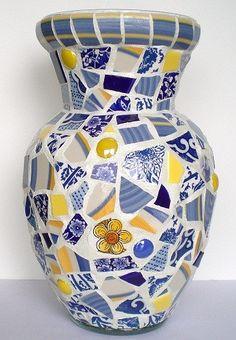 Mosaic Vase by JanetsMosaics on Etsy, $40.00