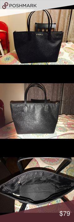 Kate Spade Glitter Purse Kate Spade black glitter purse. kate spade Bags Shoulder Bags