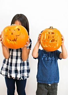 How to Create Amazing Pumpkin Carvings with Kids. Get tips on how to get kids involved in pumpkin carvings to get them excited about Halloween!
