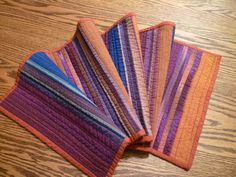 And playing with shot cotton - woven beauties - to created this long runner.