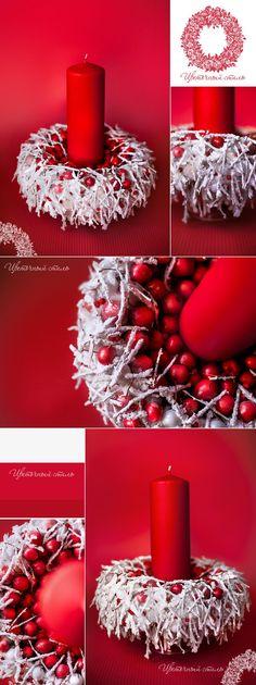 Rood met wit, klassieke kerstkleuren. Hippe uitstraling