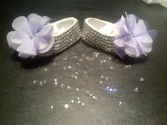 Crystal Baby Shoes Blinged out with Rhinestones