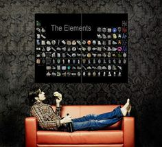 XJ1052 Periodic Table of The Elements Realistic Huge Giant Print Poster   eBay