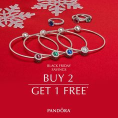 Now is the time to SAVE on must-have gifts this holiday! Buy two pieces of jewelry and get a third FREE! See store for details.