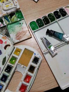Chiara Bozzetti: Aquarela em tubo x aquarela em pastilha