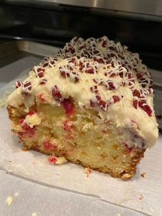 Christmas Cranberry Pound Cake - Susan Recipes Carmel Cheesecake, Brown Butter Frosting, Susan Recipe, Cranberry Cheese, Mascarpone Cheese, Take The Cake, Cake Flour, White Chocolate Chips