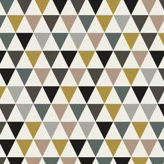 Tissu triangles fond blanc coloris Fin de siècle par Aime comme Marie, 50x140 cm  Motif Personnel