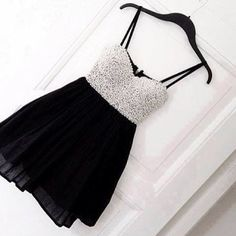 Cute little black dress with white lace